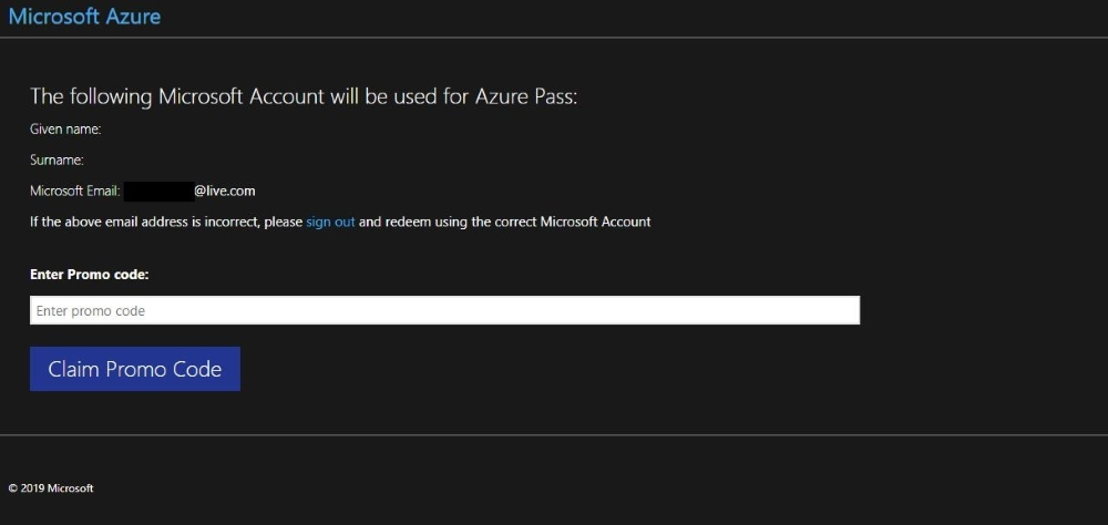 How To - Microsoft Azure Pass