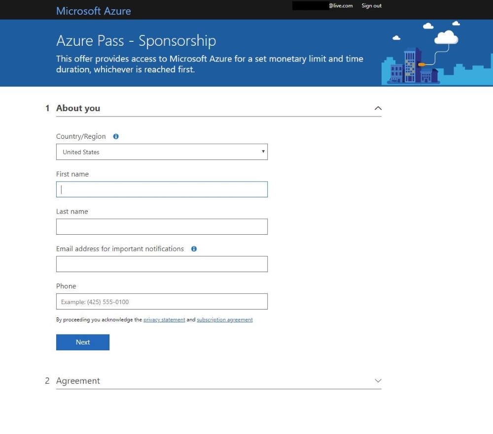 Redemption Process Guide - Microsoft Azure Pass